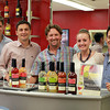 Salem: From left, Chris Crandall, KC Commoss, Mark Mahoney, Meredith Cyr, and Tad Carducci, of Thirsty Ventures, Inc. Two local businessmen, Mark Mahoney and Brian Powell, have started a Salem-based business that makes cocktail mixes. David Le/Salem News