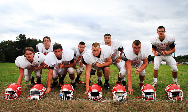 Boxford: The defensive front eight for Masco have played well all season for the Chieftans. They are led by seniors Austin Cashin (RE), captain Mackenzie Cashin (ROLB), Kevin Zegel (DT), Mike MacKay (ILB), and juniors Kyle Taggart (DT), Steve O'Reilly (ILB), Jack Butt (LE), and Gavin Monagle (LOLB). David Le/Salem News