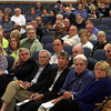 Beverly: Beverly residents listen intently to questions and concerns being raised about the proposed Brimbal Avenue Project during a forum at Beverly High School on Thursday evening. David Le/Salem News