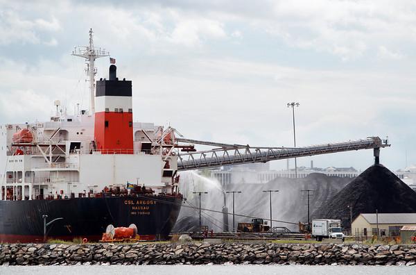 Salem: The CSL Argosy delivers the last shipment of coal to the Salem Power Plant on Thursday afternoon. David Le/Salem News