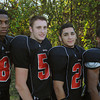 Salem:<br /> From left, Jerry Canada, Joey Byors, Anferne Jimenez, and Shakir White are Salem High School football players.<br /> Photo by Ken Yuszkus, The Salem News, Tuesday, September 24, 2013.