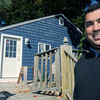 Wenham:<br /> Wenham Country Club pro Darin Chin-Aleong stands near his rebuilt home that was previously damaged by a fire.<br /> Photo by Ken Yuszkus, The Salem News, Monday, September 30, 2013.