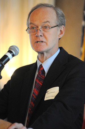 Danvers:<br /> Wayne Marquis, Danvers Town Manager, spoke along with other mayors at the State of the Region breakfast held at the Danversport Yacht Club Wednesday morning.<br /> Photo by Ken Yuszkus, The Salem News, Wednesday, September 11, 2013.