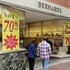 Salem:<br /> Pedestrians peer inside Bernard's Jewelers which is closing.<br /> Photo by Ken Yuszkus, The Salem News, Monday, September 16, 2013.
