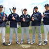 The Hamilton-Wenham Generals have been led in 2014 by seniors Brett Harring (LF/C), Jack Clay (P/3B), Pete Duval (P/C), and juniors Austen Michel (P/C), and Drew Gallant (2B). DAVID LE/Staff photo. 4/28/14