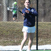 Pingree Girl's Tennis No. 1 Singles Senior Captain Erin Cunningham. DAVID LE/Staff photo 4/1/14