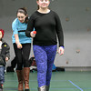 Alanna Zaldivar, 10, of Beverly participates in an egg spoon race during a Spring Celebration event held in the Field House at Endicott College on Wednesday afternoon. DAVID LE/Staff photo. 4/16/14