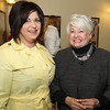 Ann Spak-Danjou, from Eastern Bank, and Marie Bishop, of Peabody at the 22nd annual Ferrin Community Service Awards on Wednesday evening in the Wiggin Auditorium inside Peabody City Hall. DAVID LE/Staff photo 4/2/14