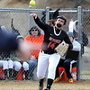 Beverly third baseman Olivia George (14).  DAVID LE/Staff photo. 4/17/14