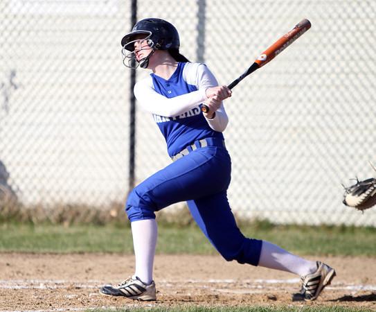 Danvers catcher Caitlin McBride #20