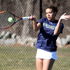 Pingree Girl's Tennis No. 3 Freshman Olivia Pena. DAVID LE/Staff photo 4/1/14