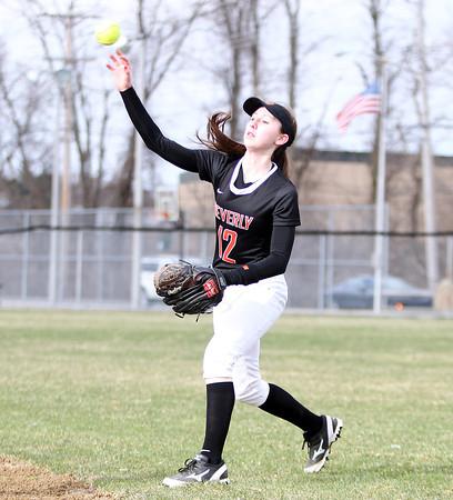 Beverly right fielder Ally Pia (12). DAVID LE/Staff photo. 4/17/14