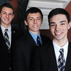 KEN YUSZKUS/Staff photo. From left, Evan Webb, Zachary James Rowell, and Aidan Marchetti, are St. John's Prep art students.