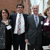 From left: Lise Balch, Victor Koufman, Patrick Deiulis, and Cindy Phelan, all of Deiulis Brothers,  at the Annual Salem Chamber of Commerce Dinner held at the Peabody Essex Museum on Wednesday evening. DAVID LE/Staff photo. 4/23/14