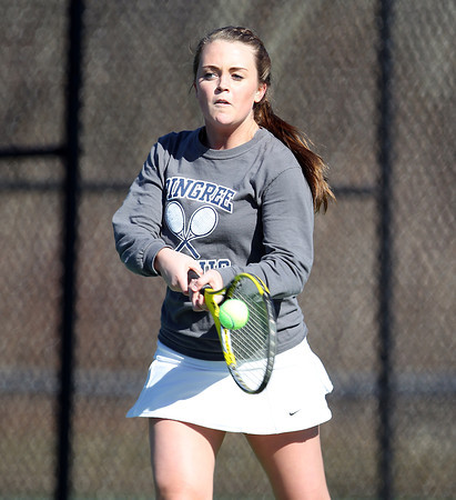 Pingree Girl's Tennis No. 2 Singles Junior Captain Casey Torto. DAVID LE/Staff photo 4/1/14