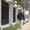 Beverly resident Rich Donlon walks down Hale Street in Beverly near Captain Dusty's Ice Cream on Friday morning. Donlon has participated in 33 of the 34 Good Friday walks, however, he will be away next week when the 35th annual walk is held, so he completed the 10.5-mile course this Friday morning instead. DAVID LE/Staff photo 4/11/14