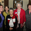 From left: Cheryl Purinton, LouAnn Larson, Nancy Mullen, Susan Ring Brown, and Joanne Plourde, of Northeast Arc at the 22nd annual Ferrin Community Service Awards on Wednesday evening in the Wiggin Auditorium inside Peabody City Hall. DAVID LE/Staff photo 4/2/14