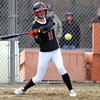 Beverly second baseman Caitlyn Munzing (11) keeps her eye on the ball against Malden on Thursday afternoon. DAVID LE/Staff photo. 4/17/14