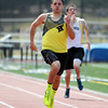 Bishop Fenwick senior captain Charlie Maistrellis cruises to a victory in the 200 in a dual meet against St. Mary's (Lynn) and Cathedral on Tuesday morning at Bishop Fenwick High School in Peabody. DAVID LE/Staff photo. 4/22/14