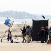 New England Patriots quarterback Tom Brady was in Beverly Farms on Friday afternoon, shooting an Uggs commercial on West Beach. DAVID LE/Staff photo 4/11/14