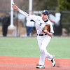 St. John's Prep senior captain Max Burt fires to first to retire a Peabody baserunner on Saturday afternoon. DAVID LE/Staff photo 4/5/14