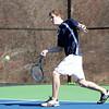 Pingree Boy's Tennis No. 1/2 Singles Junior Jeremy Wiles. DAVID LE/Staff photo 4/1/14