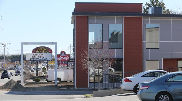 KEN YUSZKUS/Staff photo.  The new restaurant Toppsalad will open on Endicott Street in Danvers.   04/15/15