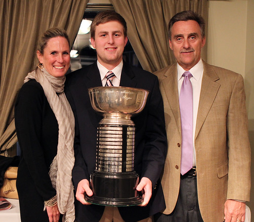 DAVID LE/Staff photo. 4/1/15. Marblehead High School senior Spencer Craig is the 2015 Salem News Student-Athlete Award winner.