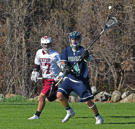pingree's Ryan Lovell passes the ball during the game against Dexter-Southfield.<br /> <br /> Photo by JoeBrownPhotos.com