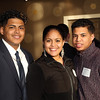 DAVID LE/Staff photo. Siblings Emi, Ambar, and Glenn Perez, of Salem, at a fundraiser to benefit LEAP for Education at the Danversport Yacht Club on Wednesday evening. 4/13/16.