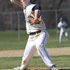 KEN YUSZKUS/Staff photo.    Danvers' pitcher Andrew Olszak throws from the mound at the Danvers at Peabody baseball game.       04/18/16