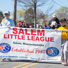 PARKER FISH/ photo. Samantha Chasse (left) and Jenna Chasse (right) lead the parade of little leaguers as part of the opening ceremonies. 4/24/16