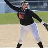 KEN YUSZKUS/Staff photo.  Beverly's pitcher Rona Scott lets one go from the pitcher's mound during the Peabody at Beverly softball game at Innocenti Park.     04/20/16