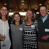 DAVID LE/Staff photo. From left, Elisabeth Massey, of Hamilton, Faith Emerson, of Manchester, Jennifer Eddy, of Ipswich, and Jon Payson, of Manchester, at a fundraiser to benefit LEAP for Education at the Danversport Yacht Club on Wednesday evening. 4/13/16.