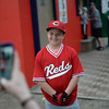 PAUL BILODEAU/Staff photo. A happy Chase Vynorius gets a photo taken of him by his aunt, Alicia Boyle, during the annual Peabody Western Little League jamboree held at Cy Tenney Field in West Peabody.