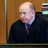 KEN YUSZKUS/Staff photo.  Salem District Court Judge William Fitzpatrick presided over Xavier Collazo's arraignment for the murder of Benjamin Magee in Salem last month.     04/21/16