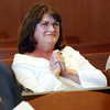 KEN YUSZKUS/Staff photo.    Kristen Labrie's mother Simone Cobb of Danvers reacts to the outcome of the bail hearing for her daughter in Salem Superior Court.    04/14/16