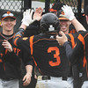 Beverly players celebrate the win over Danvers.<br /> <br /> Photo by JoeBrownPhotos.com