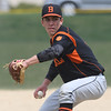Beverly pitcher Joe Modahl throws against Danvers.<br /> <br /> Photo by JoeBrownPhotos.com