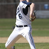 KEN YUSZKUS/Staff photo.    Peabody's pitcher Pat Maguire fires one off the mound at the Danvers at Peabody baseball game.       04/18/16