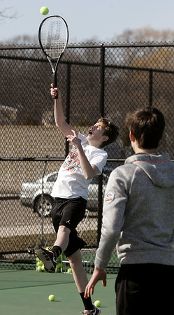 Beverly High School boys tennis practice