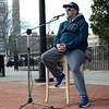 HADLEY GREEN/ Staff photo<br /> Michael J. Caron of Roxbury speaks at the second annual Lost Lives Matter vigil for people who have died from opioid overdoses held at the Leather City Common in Peabody on Saturday, April 8th, 2017. Caron has battled heroin addiction since 1998, and has been clean for two years.