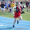 HADLEY GREEN/ Staff photo<br /> Salem's Dani Stotts runs at the Salem v. Lynn track meet at Danvers High School on Tuesday, April 18th, 2017.