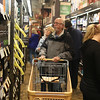 HADLEY GREEN/ Staff photo<br /> George Martel looks at the scotch selection at the new Total Wine and More at the Liberty Tree Mall. The store held a preview party at their new location in Danvers on April 26th, 2017.