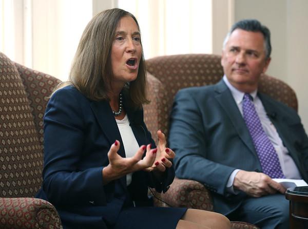 MA State Treasurer Deborah Goldberg speaks at the Chamber breakfast.