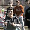 Beverly High School boys tennis practice