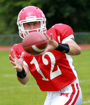 Masco senior wide receiver Corey Tines is a three-year, two-way player for the Chieftans and will look to repeat his 2013 success on the gridiron. DAVID LE/Staff photo. 8/22/14.