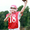 Masco senior quarterback Roby Deschenes (18) will battle sophomore Declan Judge for the starting signal caller position for the Chieftans in 2014. DAVID LE/Staff photo. 8/22/14.