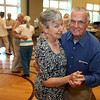 KEN YUSZKUS/Staff photo. Judy McLaughlin and Ernie Lang, both of Beverly, dance to the music of the big band sound of R&R 2000 band at the Beverly Senior Center as part of Beverly Homecoming.  8/5/14