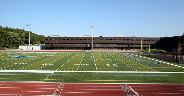 The brand new turf stadium has been completed at Peabody High School. DAVID LE/Staff photo. 8/26/14.